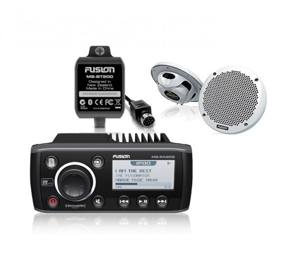 Fusion MS-RA205 Radio + MS-EL602 Lautsprecher + MS-BT200 Bluetooth Adapter Paket