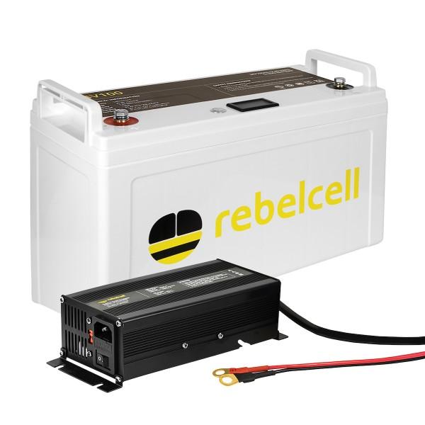 Rebelcell 24V 100AH inkl. Lader