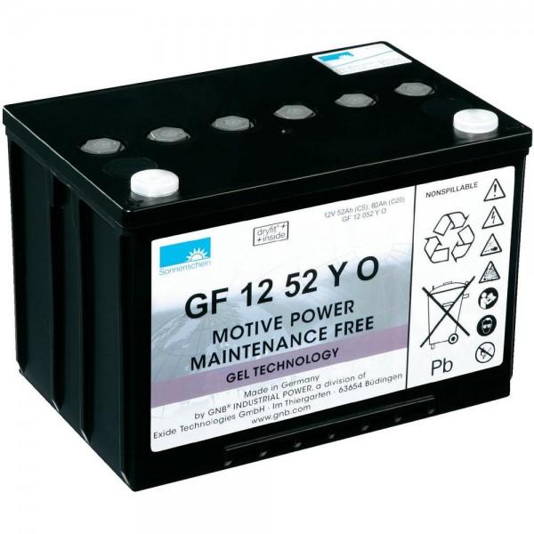 12 V 52 Ah Sonnenschein GNB GF 12052