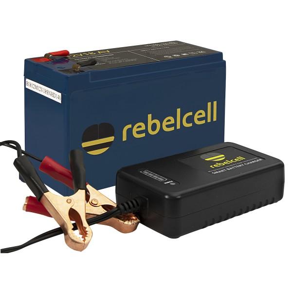 Rebelcell 12V 18AH inkl. Lader